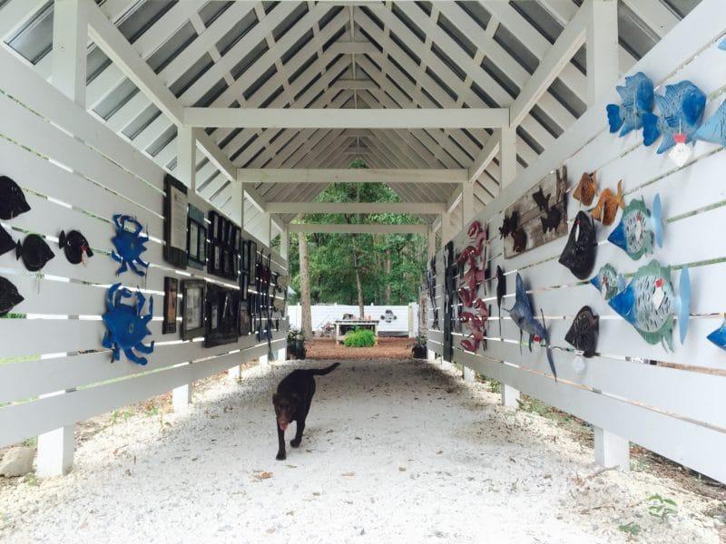 Iron Fish Gallery art tunnel