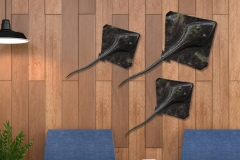 Chase Allen's Handcrafted stingray coastal wall steel sculptures