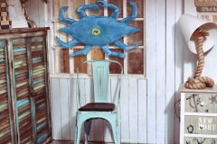 stylish interior corner with sea and beach Blue Crab