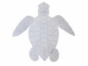 Handcrafted White Loggerhead Sea Turtle Sculpture by artist Chase Allen